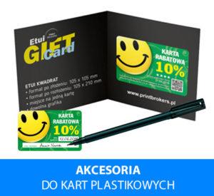 Akcesoria do kart plastikowych