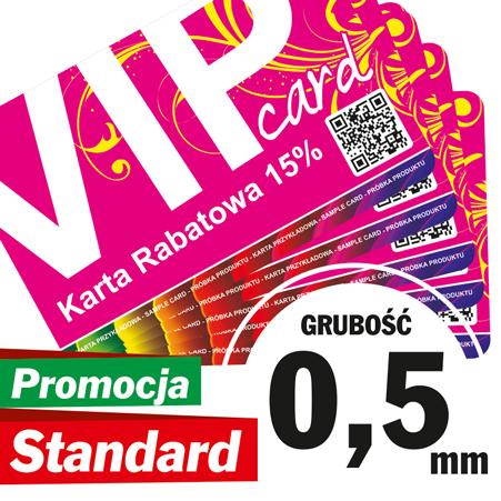 Karty Plastikowe Standard gr. 0,5 mm