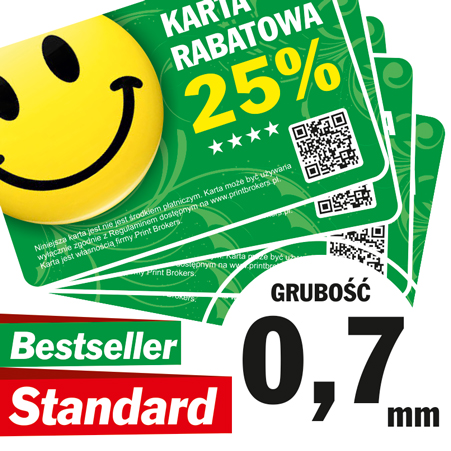 Karty Plastikowe Standard gr. 0,7 mm
